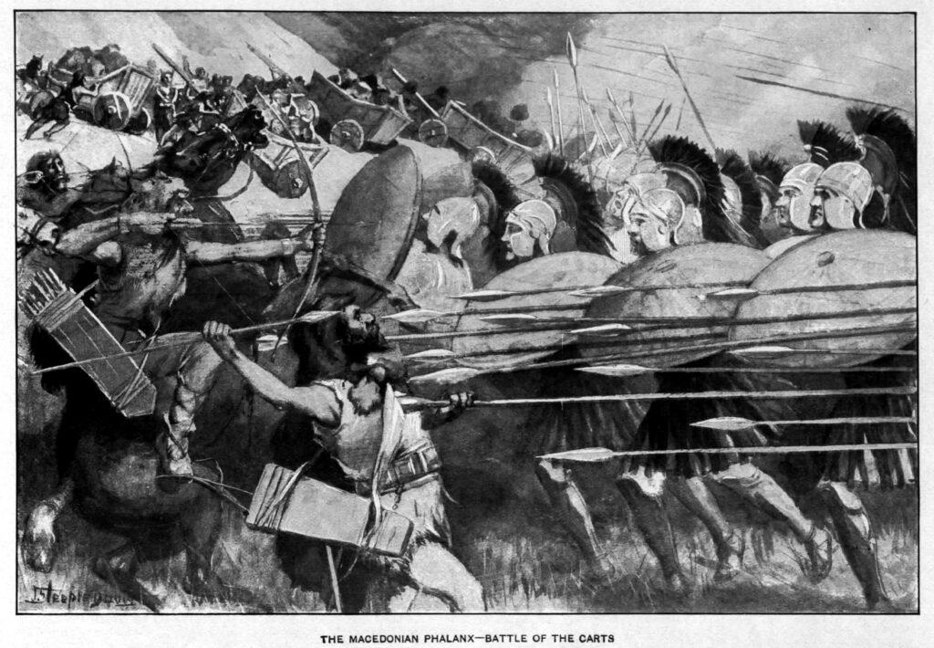 Alexander den stores arme i strid, alexander är en av de största ledarna någonsin