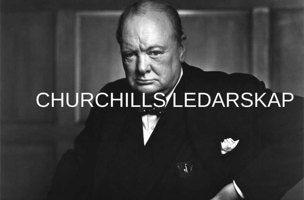 Sir Winston Churchill, en av 1900-talets största ledare